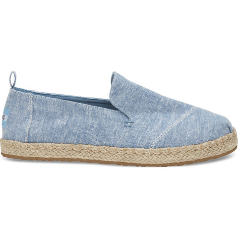 TOMS Women's Deconstructed Alpargata | Blue Slub Chambray