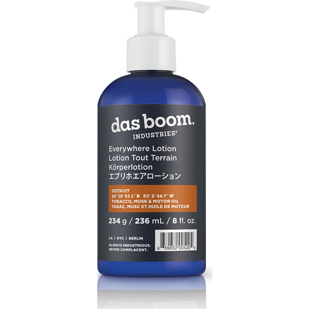 Das Boom Everywhere Lotion Detroit (Tobacco, Musk & Motor Oil) BD -EL-TMM-4