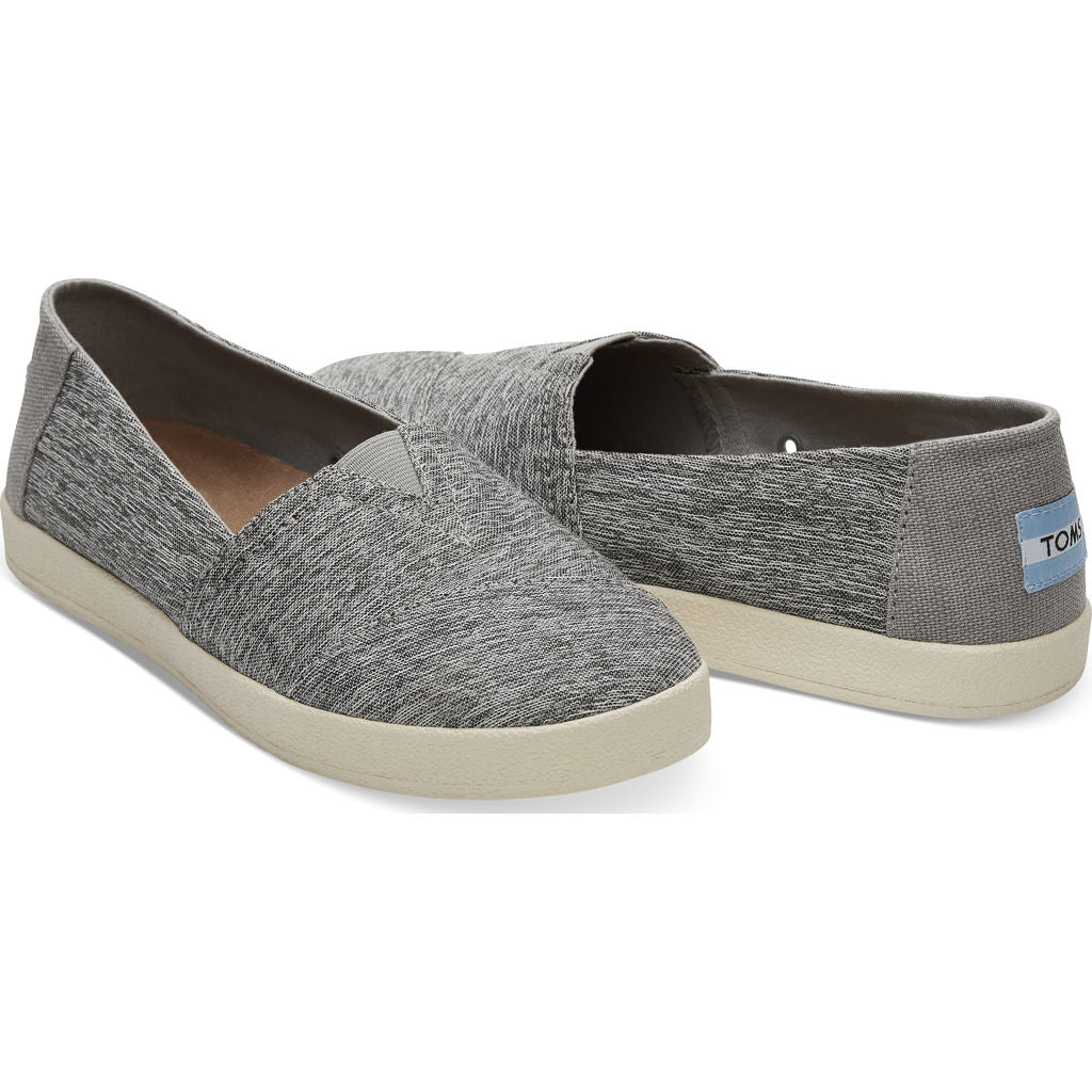 TOMS Women's Avalon Forged Iron Space Dye Slip Ons | Grey- 10010812 -6.5