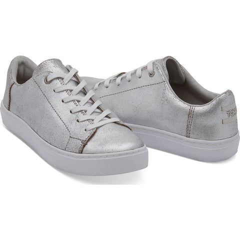 TOMS Women's Metallic Leather Lenox Sneakers | Silver - 10010839 -7