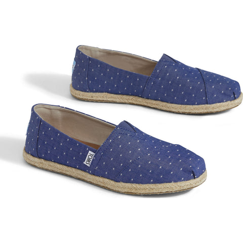 TOMS Women's Alpargata Slip On Espadrilles | Blue 10011643