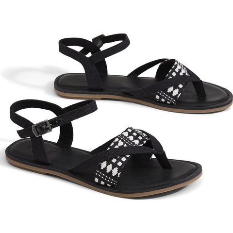 TOMS Women's Lexie Sandals | Black 10011785