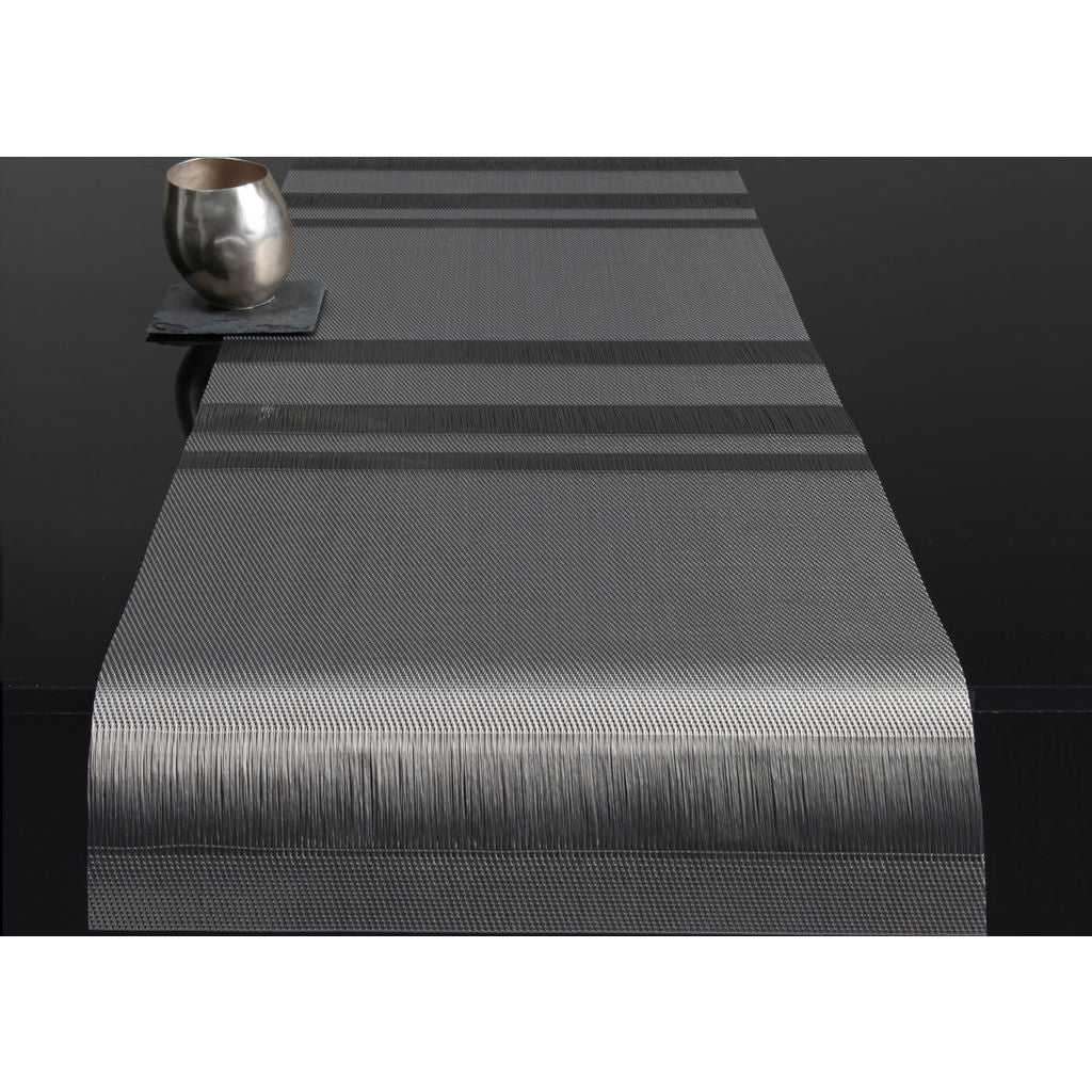 Delicieux Chilewich Tuxedo Stripe Table Runn 14x76 | Silver   100138 004 ...
