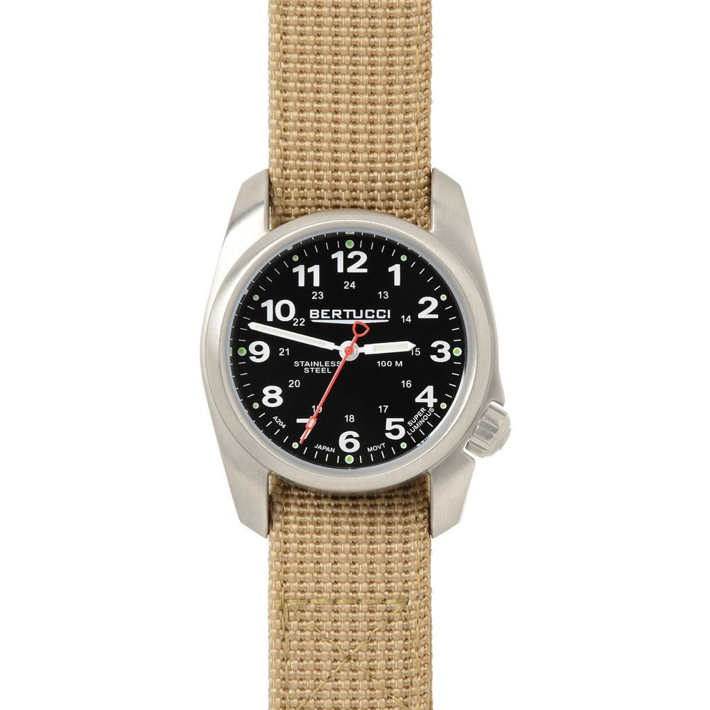 Bertucci A-1S Field Watch | Black/Patrol Khaki D-Type Nylon 10014