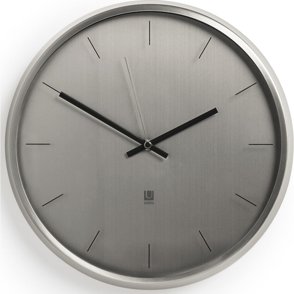 Umbra Meta Wall Clock | Nickel 1004385-410