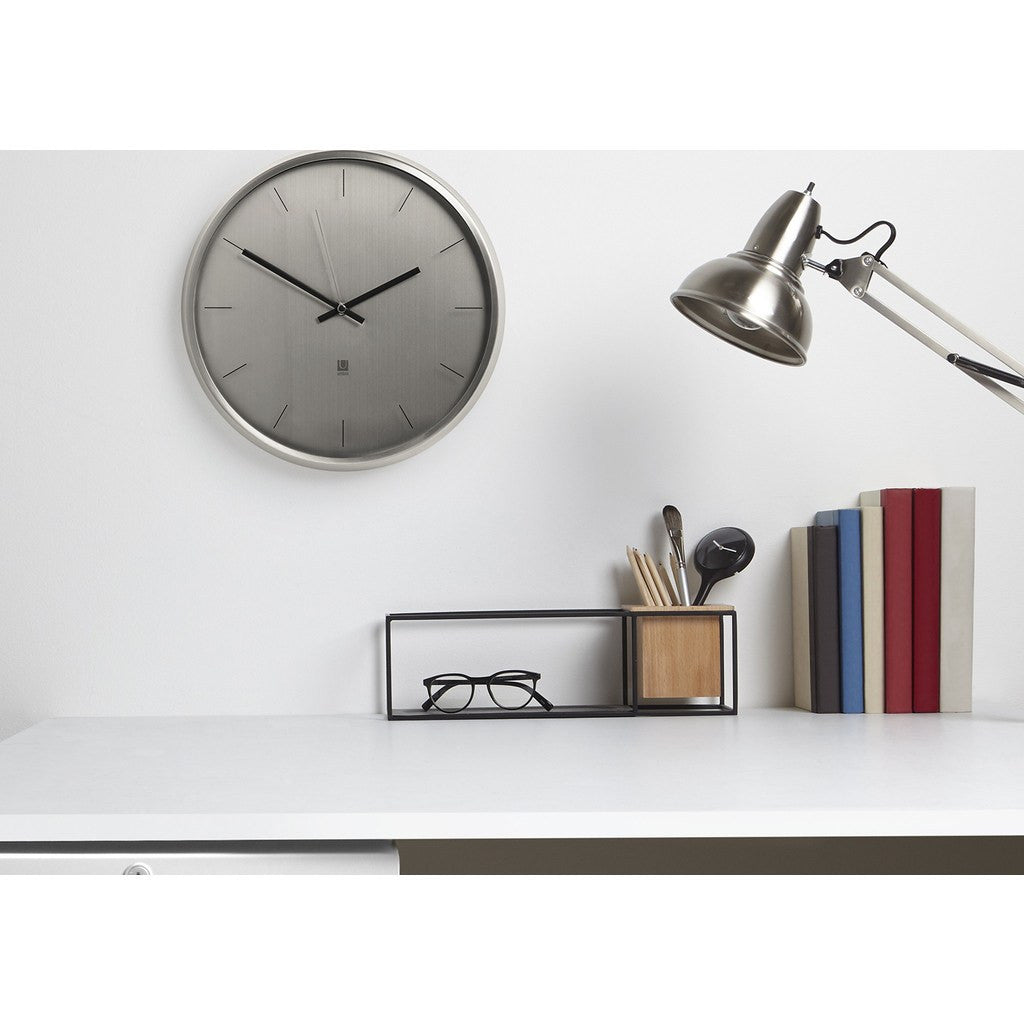 umbra meta wall clock nickel
