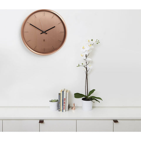 Umbra Meta Wall Clock | Copper 1004385-880