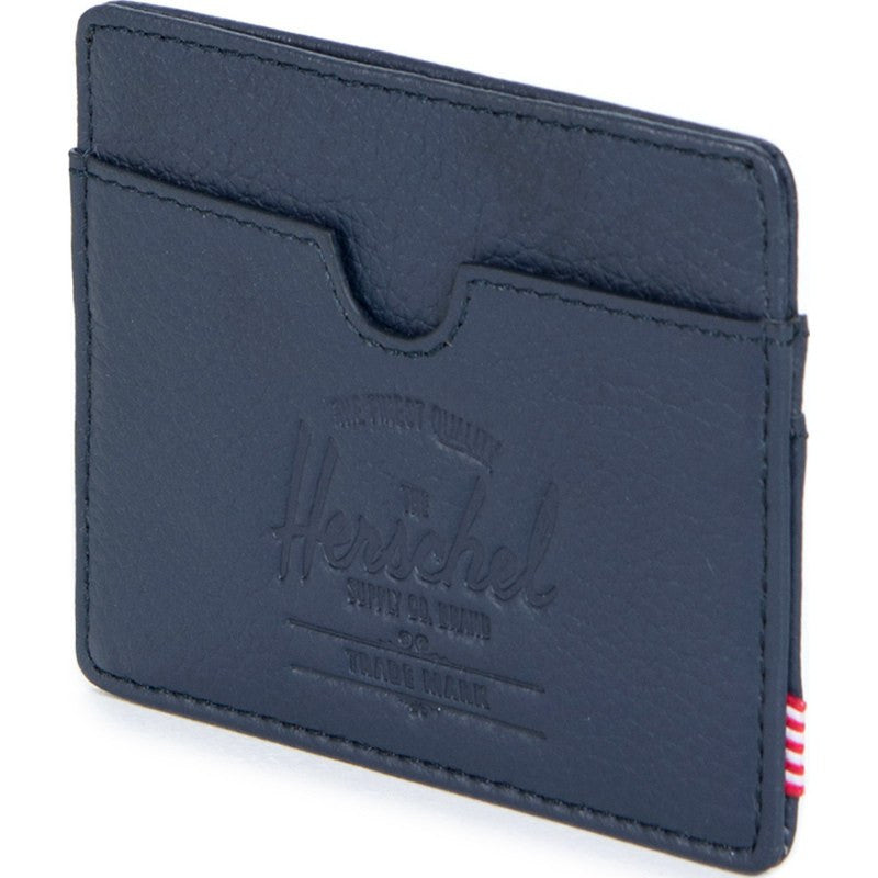 Herschel Charlie Leather Wallet | Navy Pebble 10045-00776-OS