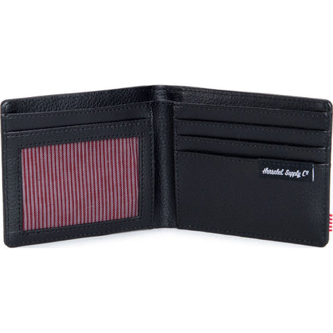 Herschel Hank Leather Wallet | Black Snake 10049-00876-OS