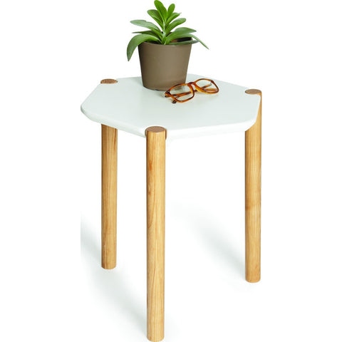 Umbra Lexy Side Table | White/Natural 1005863-668