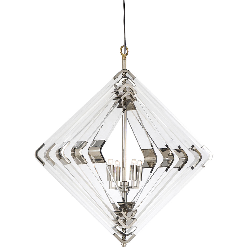 Resource Decor Spiral Acrylic Diamond | Nickel