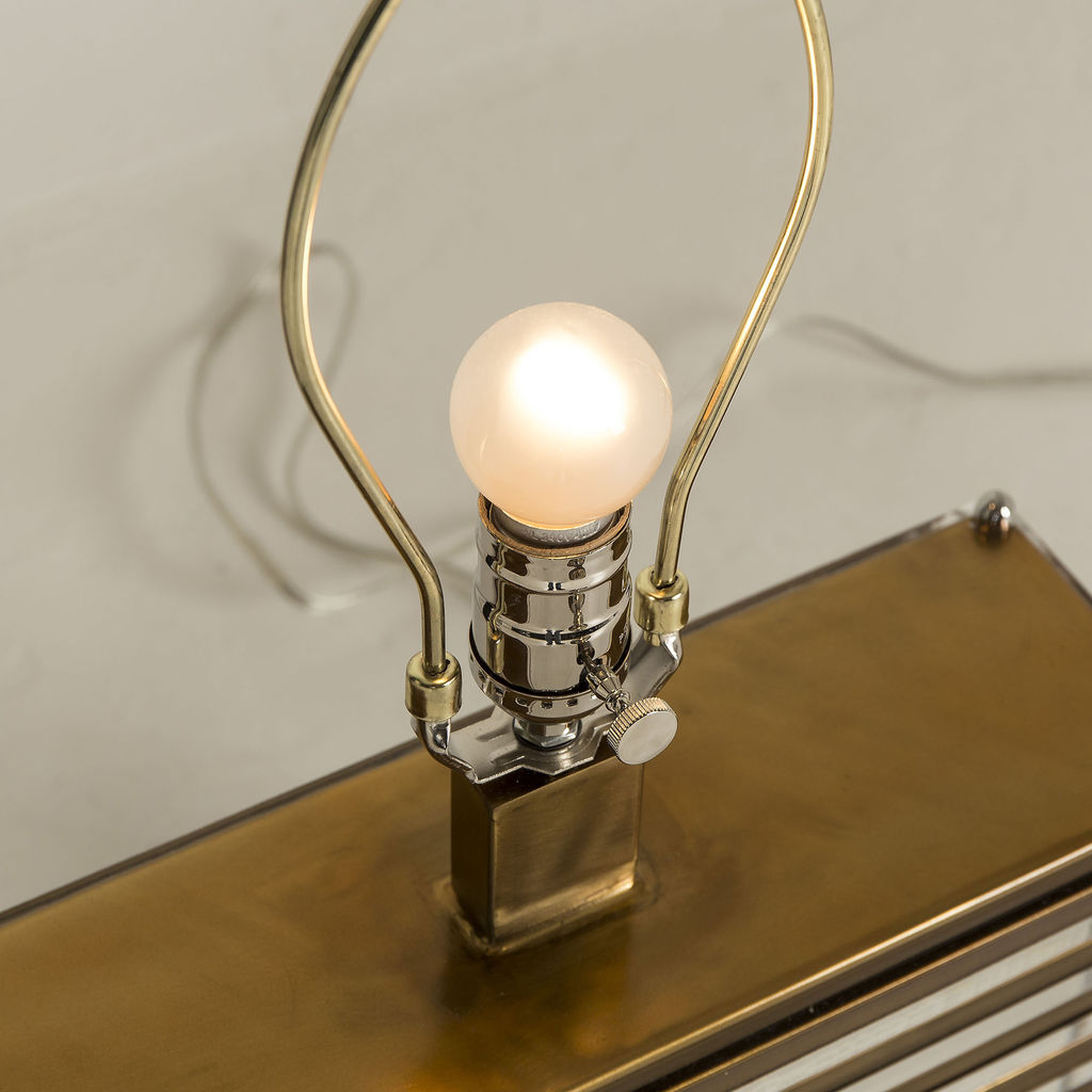 Resource Decor Stack Table Lamp | Brass/White