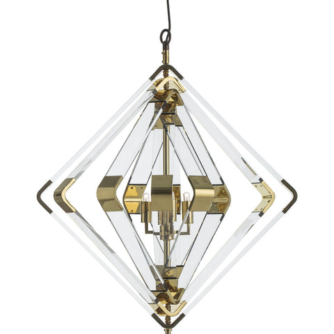 Resource Decor Spiral Acrylic Diamond | Brass