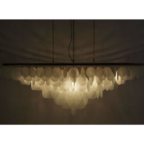 Resource Decor Cloud Extra Large Chandelier | Brass/Etched Glass