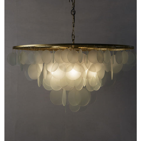 Resource Decor Cloud Chandelier Large | Brass/Etched Glass
