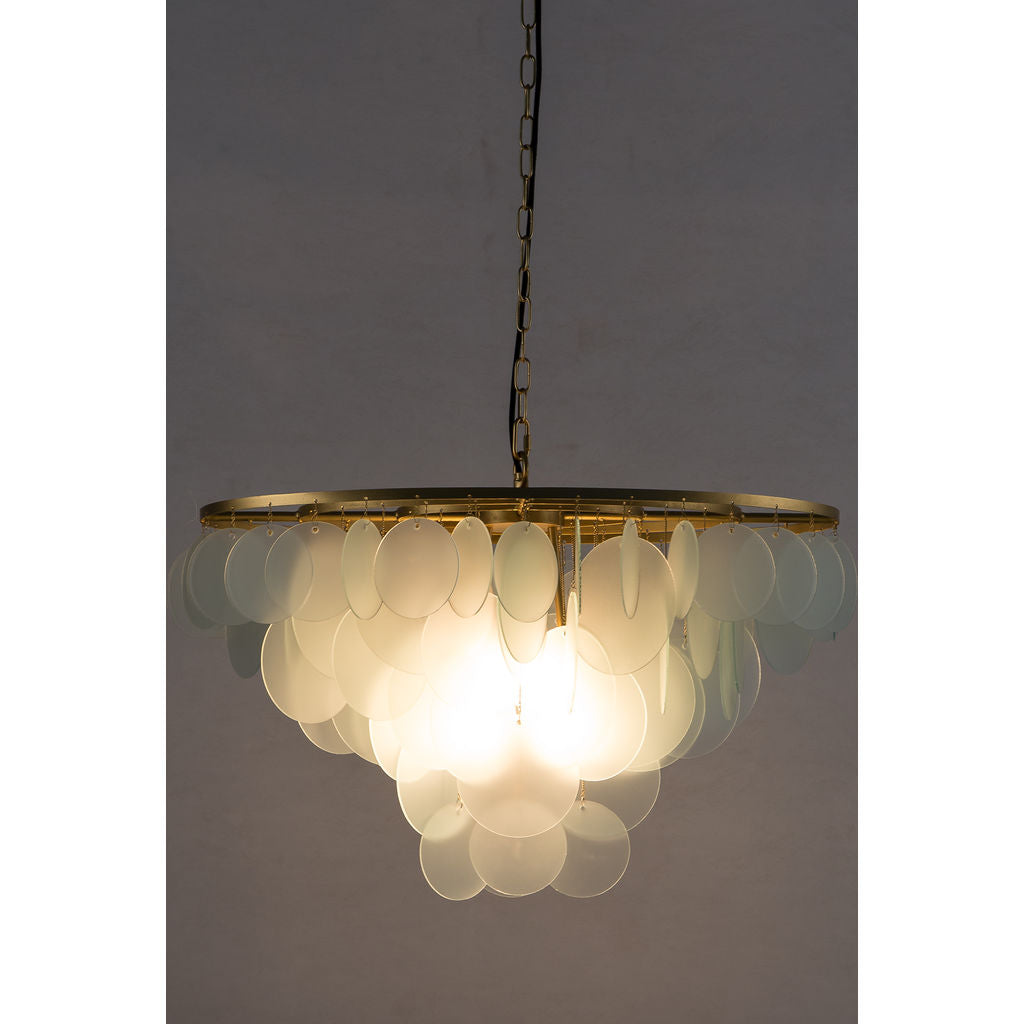 Resource Decor Cloud Chandelier Small | Brass/Etched Glass