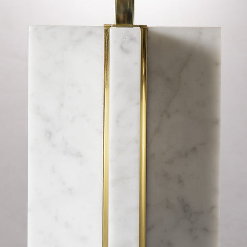 Resource Decor Marble Cross Table Lamp | White/Brass