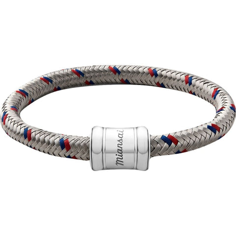 Miansai Stainless Steel Single Rope Casing Bracelet | Red/Blue