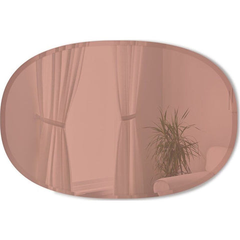 Umbra Hub Bevy Oval Wall Mirror | 24 x 36""