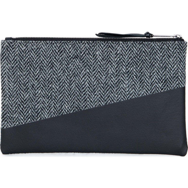 Herschel Network M Harris Tweed Pouch | Blue Herringbone 10162-00878-OS