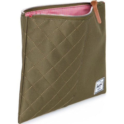 Herschel Network L Quilted Pouch | Army 10163-00867-OS