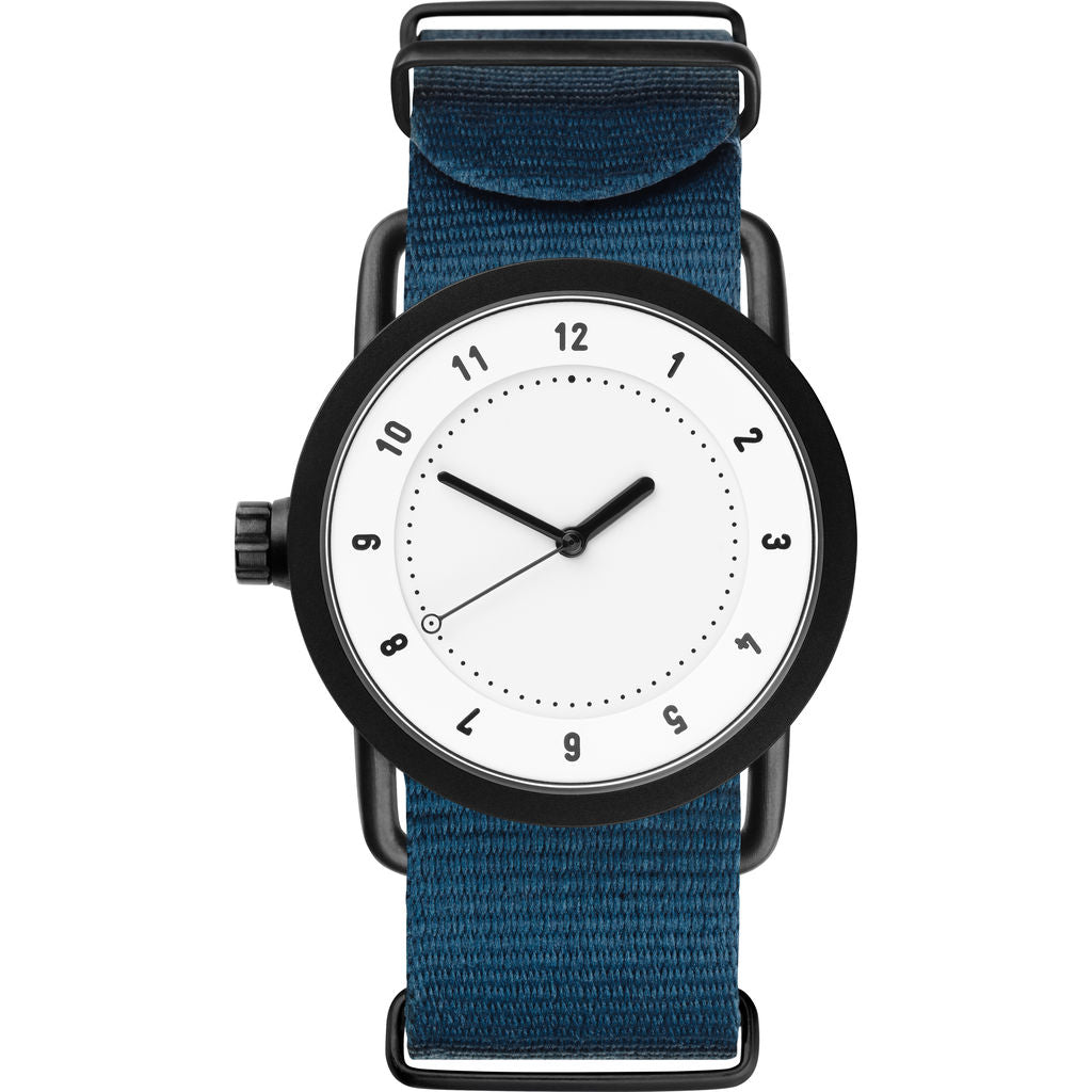 TID No. 1 36 White Watch | Blue Nylon