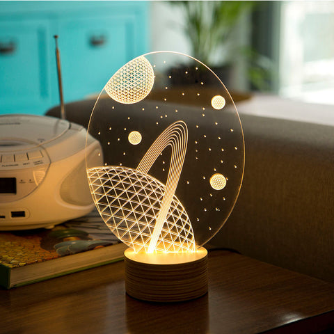 Studio Cheha Galaxy LED Table Lamp | Birch/Acrylic