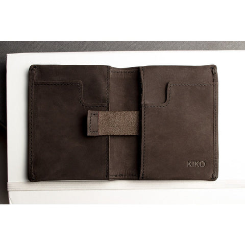 Kiko Leather Slim Bi-Fold Wallet | Brown 102brwn