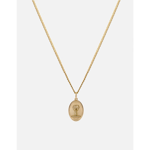 Miansai Palm Tree Pendant Necklace | Gold Vermeil 103-0168