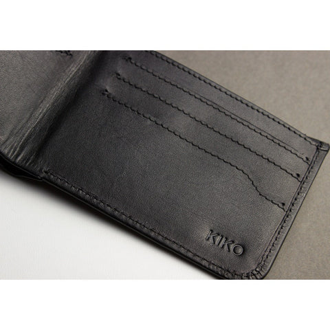 Kiko Leather Secret Bi-Fold Wallet | Black 103