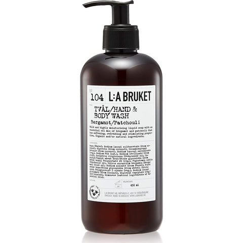 L:A Bruket No 104 Hand & Body Wash | Bergamot/Patchouli