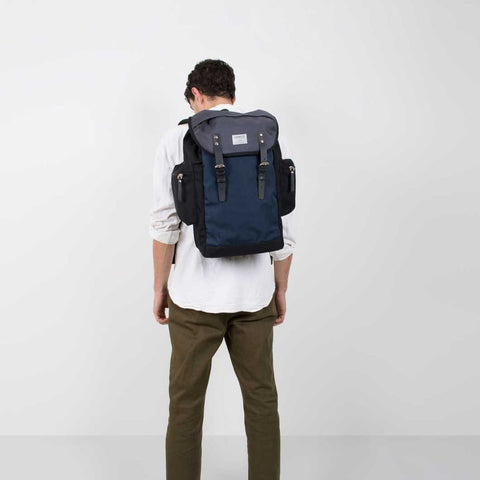 Sandqvist Lars-Goran Backpack | Black/Blue/Grey SQA724