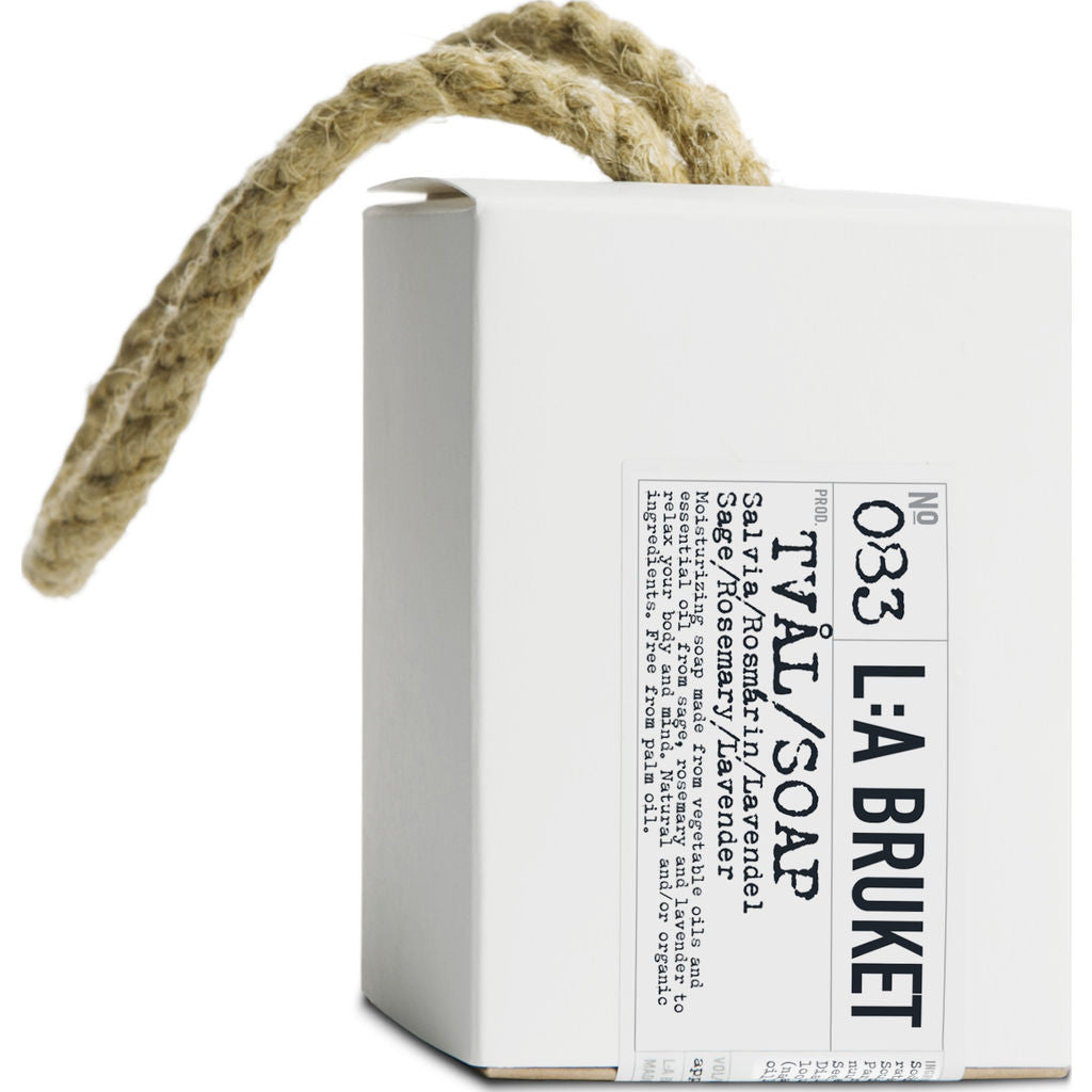 L:A Bruket No 083 Rope Soap | Sage/Rosemary/Lavender- 10980
