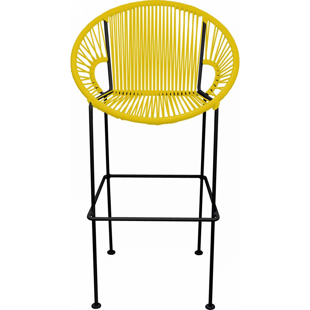 Innit Designs Puerto Bar Stool | Black/Yellow-10b.01.03