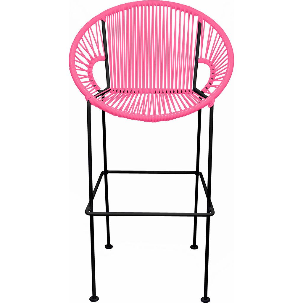 Innit Designs Puerto Bar Stool | Black/Pink-10b.01.05
