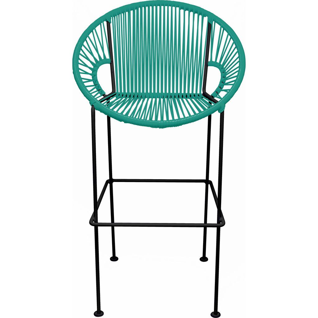 Innit Designs Puerto Bar Stool | Black/Turquoise-10b.01.09
