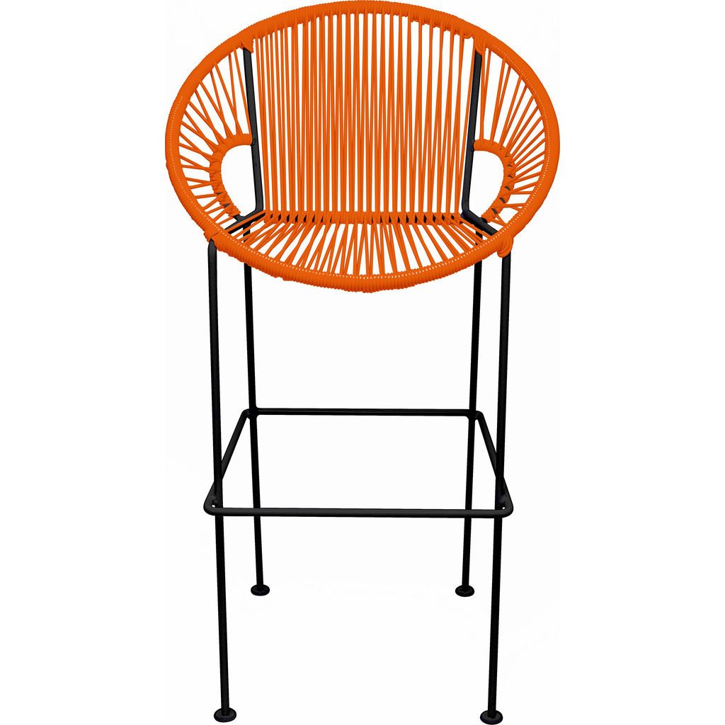 Innit Designs Puerto Bar Stool | Black/Orange-10b.01.10