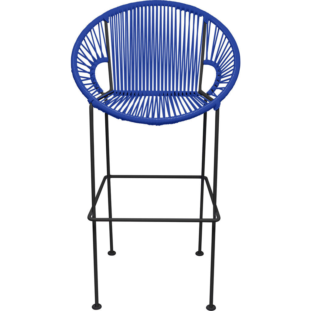 Innit Designs Puerto Bar Stool | Black/Deep Blue-10b.01.28