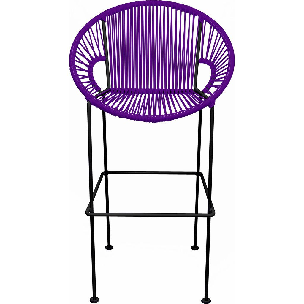 Innit Designs Puerto Counter Stool | Black/Purple-10c.01.07