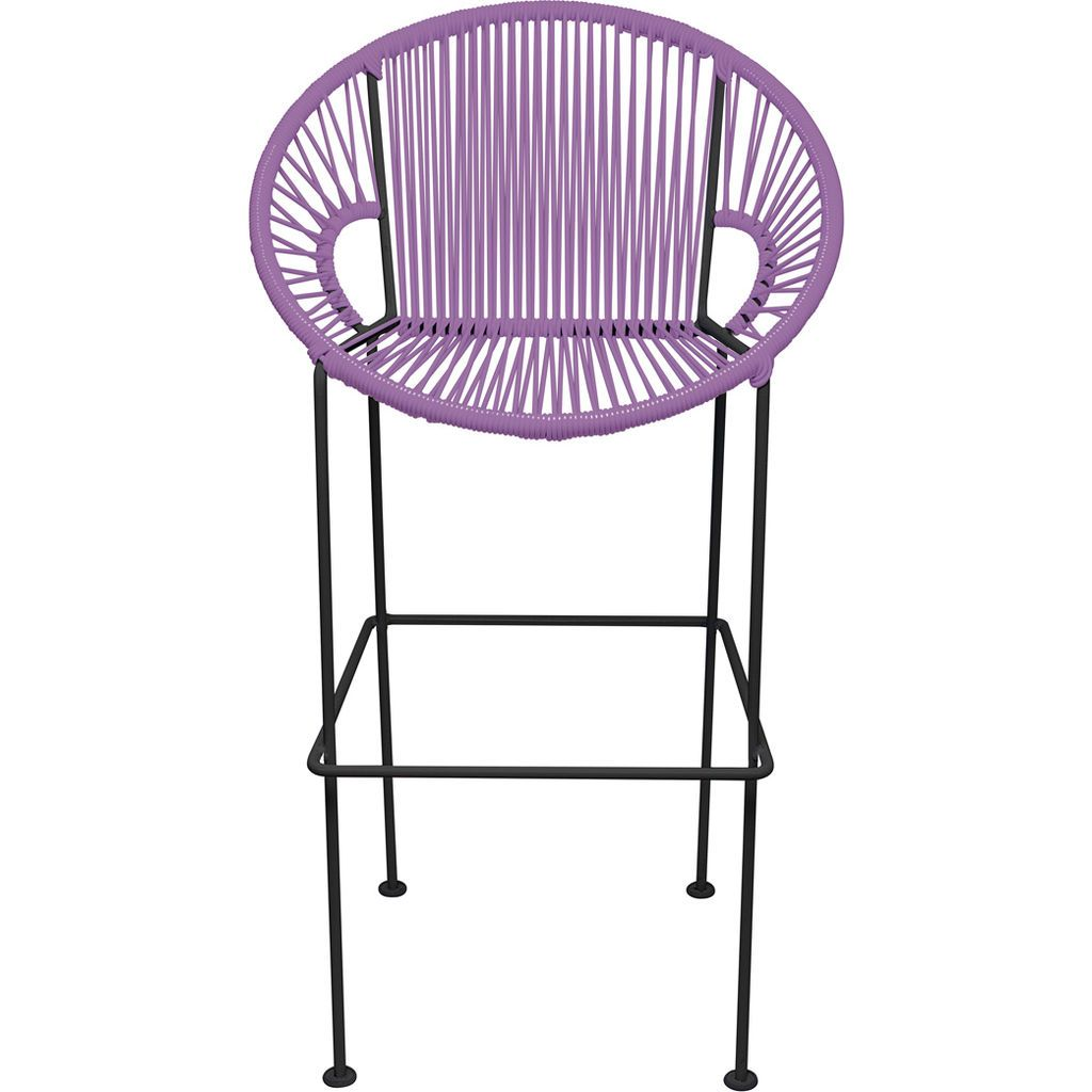 Innit Designs Puerto Counter Stool | Black/Orchid-10c.01.12