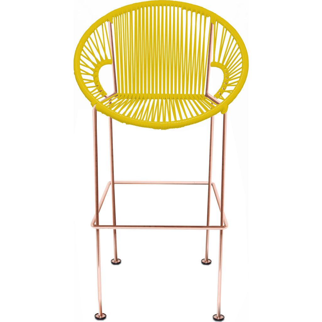 Innit Designs Puerto Counter Stool | Copper/Yellow-10c.04.03