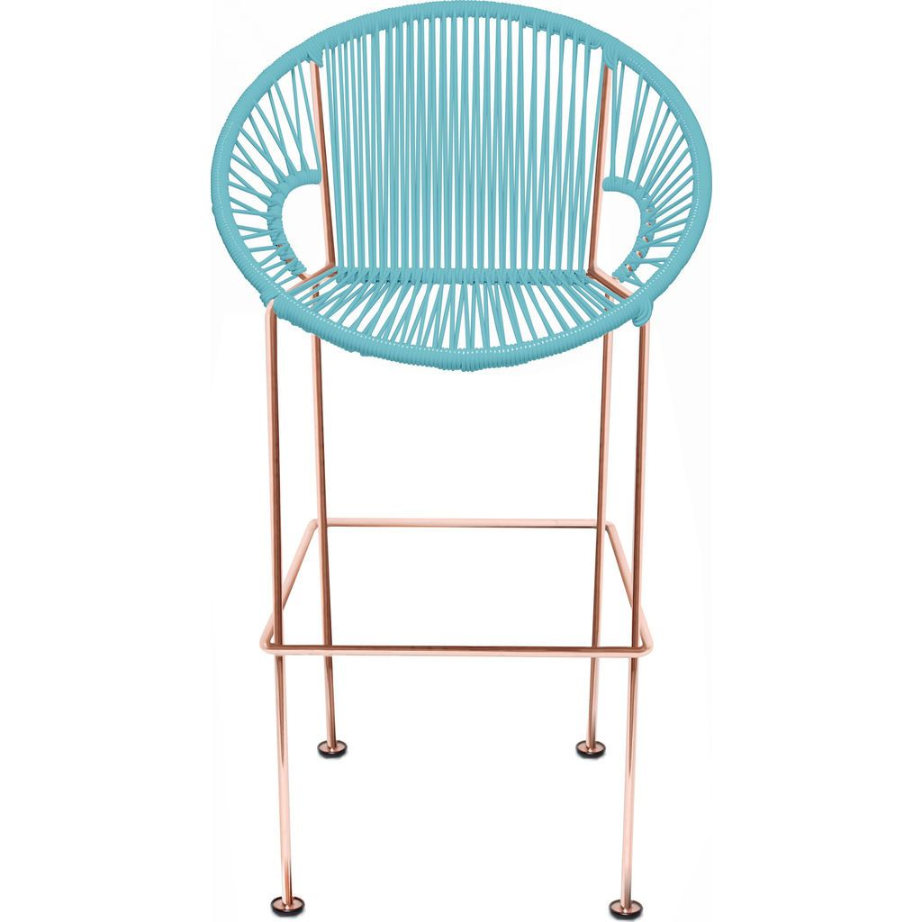 Innit Designs Puerto Counter Stool | Copper/Blue-10c.04.04