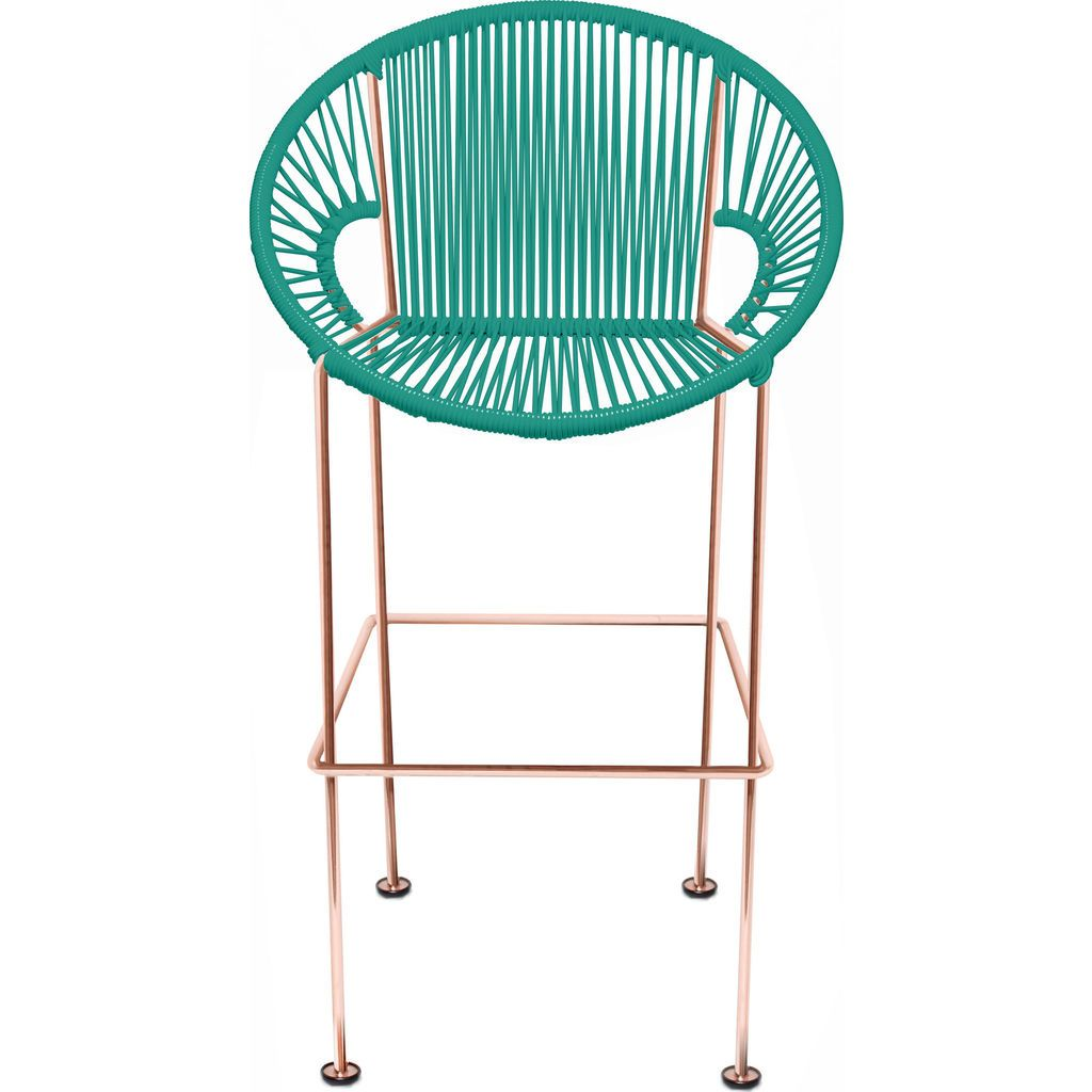 Innit Designs Puerto Counter Stool | Copper/Turquoise-10c.04.09