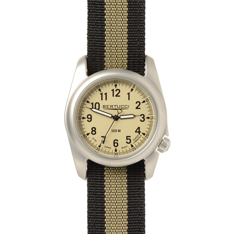 Bertucci A-2S Ventara Watch | Black/Khaki Stripe