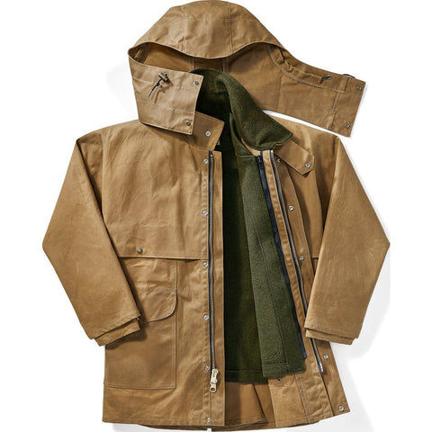 Filson Tin Cloth Alaska Fit Packer Coat | Dark Tan XL 1st Standard 11010001Dark Tan
