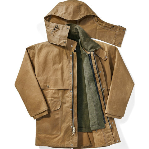 Filson Tin Cloth Packer Coat - Extra Long | Dark Tan XXL Long 11010002