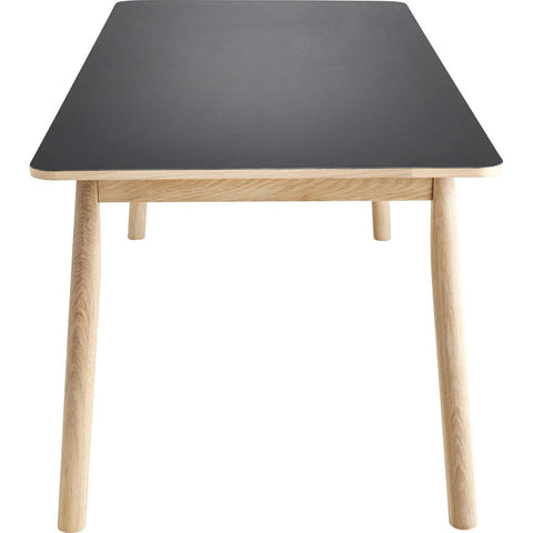 Woud Pause Dining Table | Black/Soap Treated Oak 110101