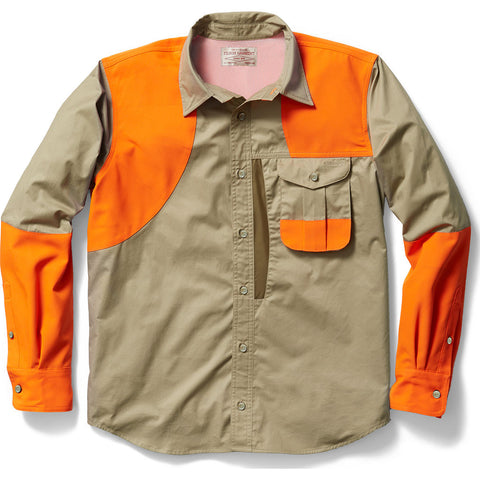 Filson Frontloading Right-Handed Shooting Shirt | Dark Tan/Dark Olive Medium Standard 11010525DkTnDkOliv