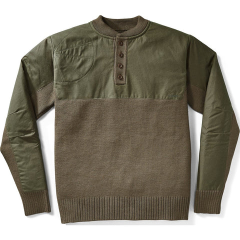 Filson Henley Guide Sweater | Peat Green L 11010692