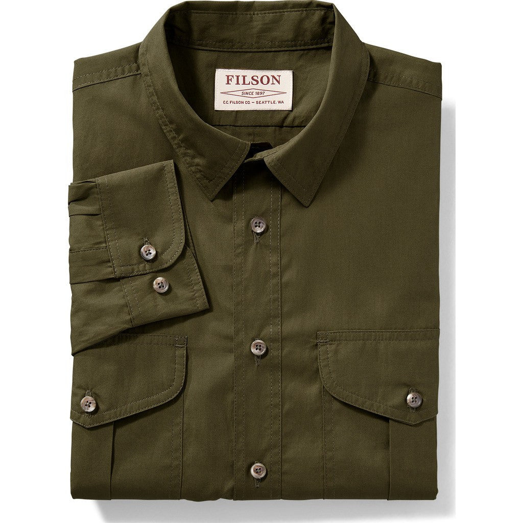 Filson Filson's Feather Cloth Shirt | Marsh Olive L 11010761